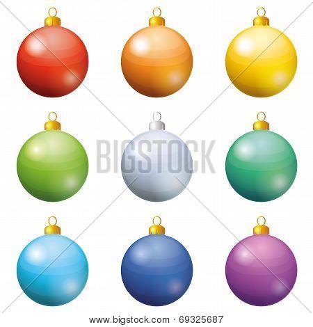 Christmas decoration, set balls