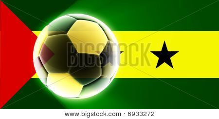 Flag Of Sao Tome And Principe Soccer