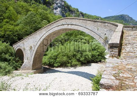 Old stone bridge in Greece