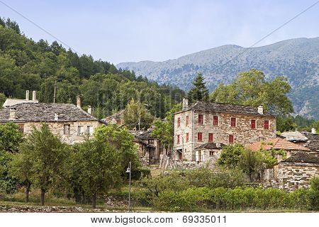 Old village of Papingo in Greece