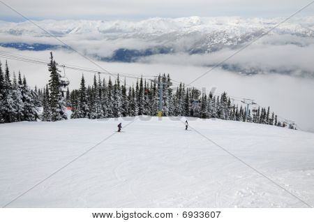 Skiing At Whistler-blackcomb Resort