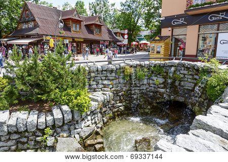Foluszowy Stream At Krupowki In Zakopane