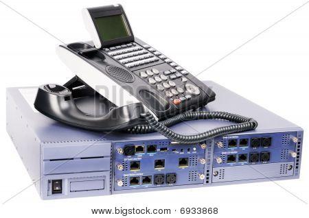 Telefonsets Switch und Telefon