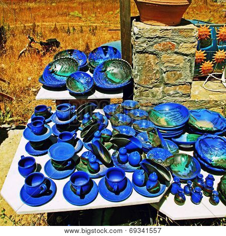 Greek Pottery Shop, Crete