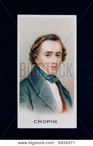 Cigarette Card Of Composer Chopin