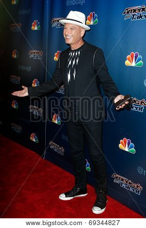 NEW YORK-JUL 30: Comedian Howie Mandel attends the 'America's Got Talent' post show red carpet at Radio City Music Hall on July 30, 2014 in New York City.