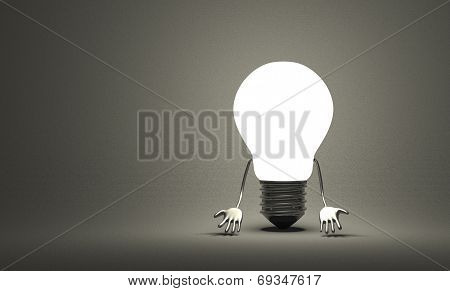 Discouraged Tungsten Light Bulb Character