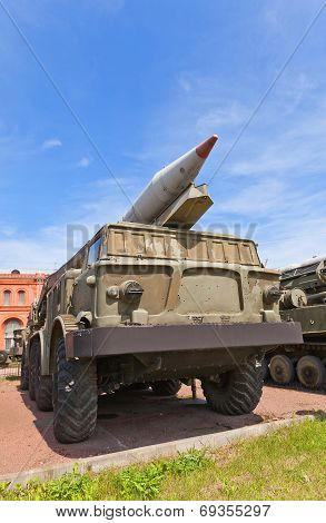 Soviet Rocket Launcher 9P113 Of Rocket System 9K52 Luna-m