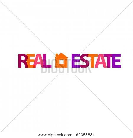 Template for the sign - real estate - sale, lease. Vector.