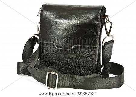 Small Black Leather Bag Men