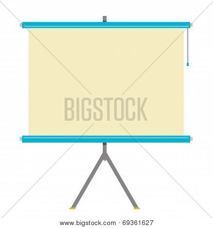 Flat Projector Screen Vector