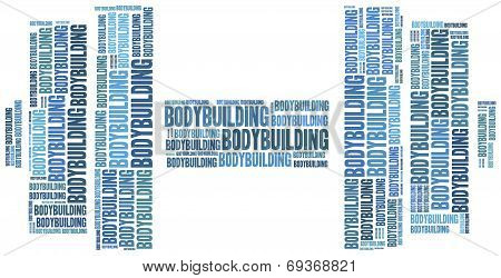 Word Cloud Illustration Bodybuilding Related