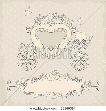 Coach. Template Wedding Invitation