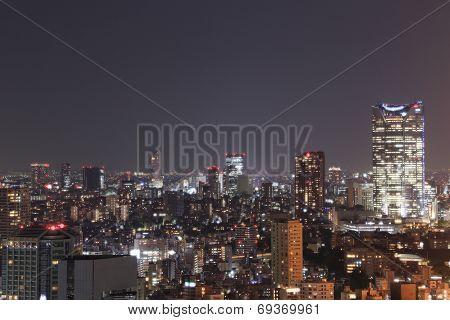 Tokyo Cityscape At Night