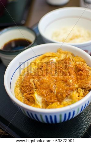 Deep Fried Pork With Egg And Rice