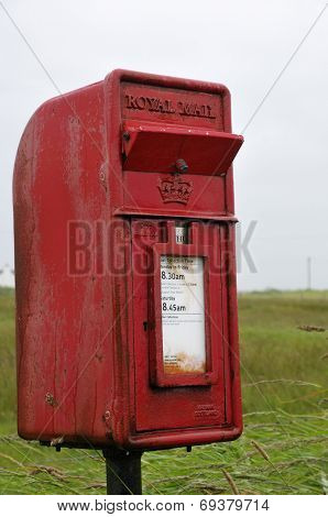Royal Mail Letter Box With Storm Flap