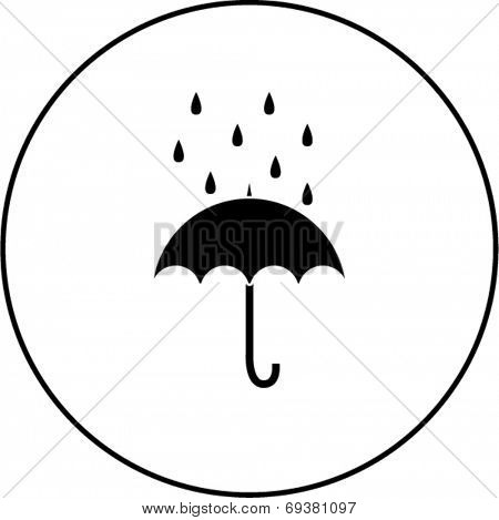 umbrella with rain symbol