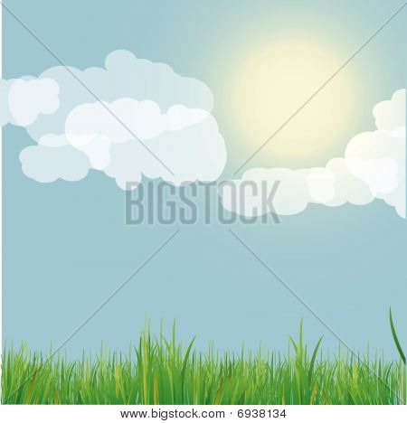 Nature background  . Vector Illustration