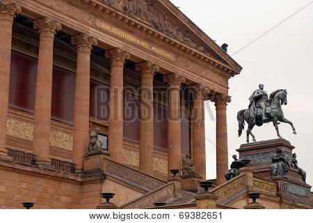 German Art Museum in Berlin. Main facade view. Editorial image. Date 04.05.2010
