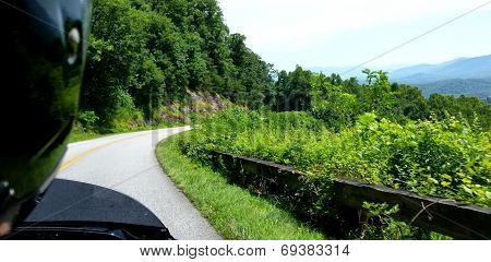 Motorcycle Riding On The Blue Ridge Parkway