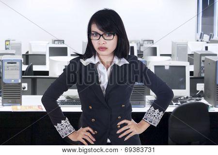 Portrait Of Bossy Businesswoman