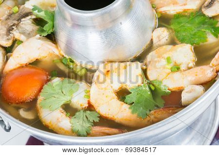 Spicy And Sour Shrimp Tom Yum