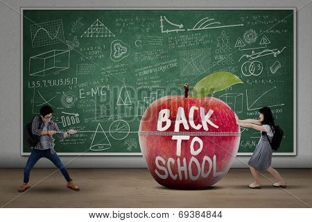 Two Students Back To School
