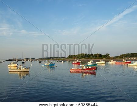 Boats In Cohasset Harbor