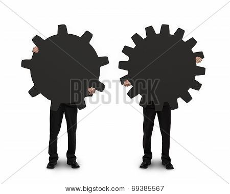 Holding Two Gears To Connect