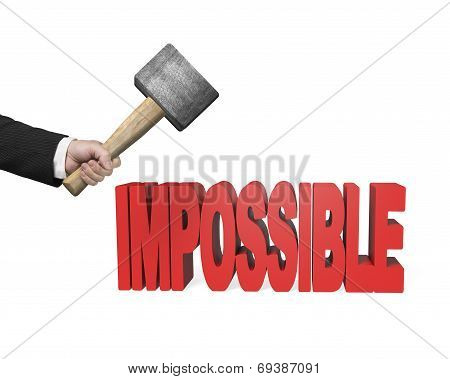 Using Hammer To Creak Impossible 3D Word