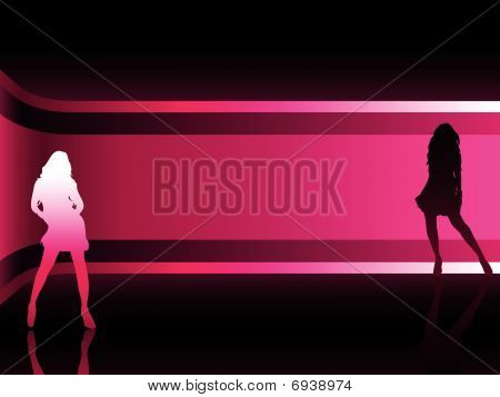 Sexy fashion girl in beautiful and colorful background.