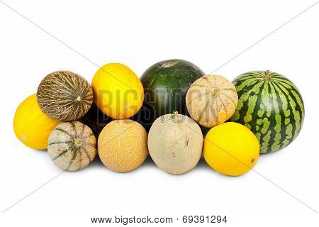 Many Different Varieties Of Melons
