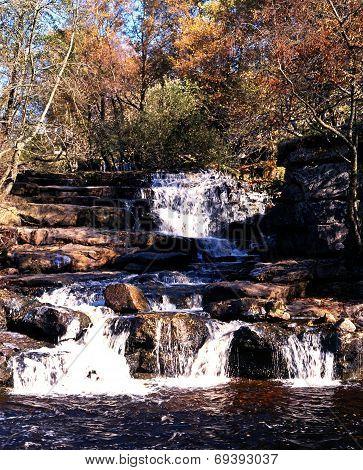 Kisdon Falls waterfall, Yorkshire Dales.