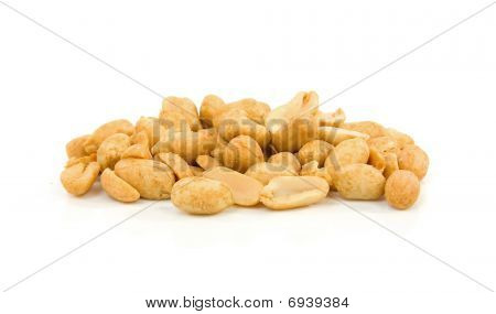 Pile Of Salted Peanuts