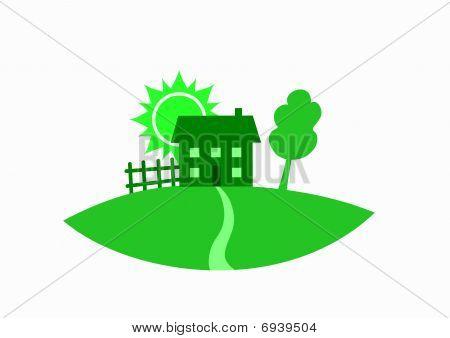 Green real estate icon