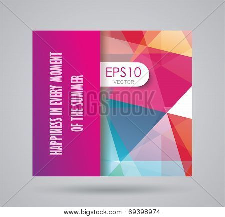 Bright Summer Card With Abstract Geometric Background