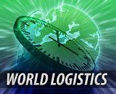 Europe Logistics Management Concept poster