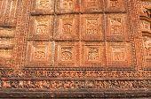 stock photo of radha  - Figurines made of terracotta at Madanmohan Temple Bishnupur West Bengal India  - JPG