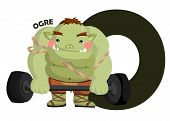 pic of ogre  - the letter o for the word ogre - JPG