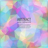 picture of parallelepiped  - Geometric triangular light background with place for your text - JPG