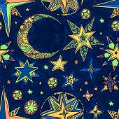 stock photo of starry sky  - Abstract background - JPG