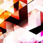 stock photo of triangular pyramids  - Colorful Triangular Abstract Background - JPG