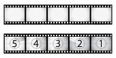 Film strip and countdown