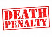 stock photo of death penalty  - DEATH PENALTY red Rubber Stamp over a white background - JPG