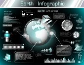 picture of deforestation  - Infographic for planet Earth with industrial concept - JPG