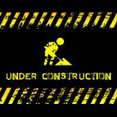 pic of placeholder  - Grunge illustration with yellow caution tapes  - JPG