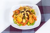 picture of sauteed  - Pad cashew nut with chicken sauteed white onions green onions carrots dried chili - JPG