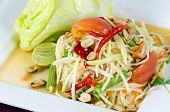 foto of green papaya salad  - Papaya Salad Thai call  - JPG