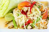 picture of papaya  - Papaya Salad Thai call  - JPG