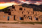picture of pueblo  - Ancient City of Taos New Mexico USA - JPG